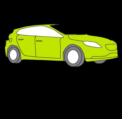 green car zooma