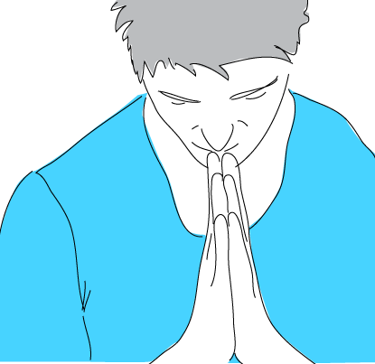 praying man zooma se