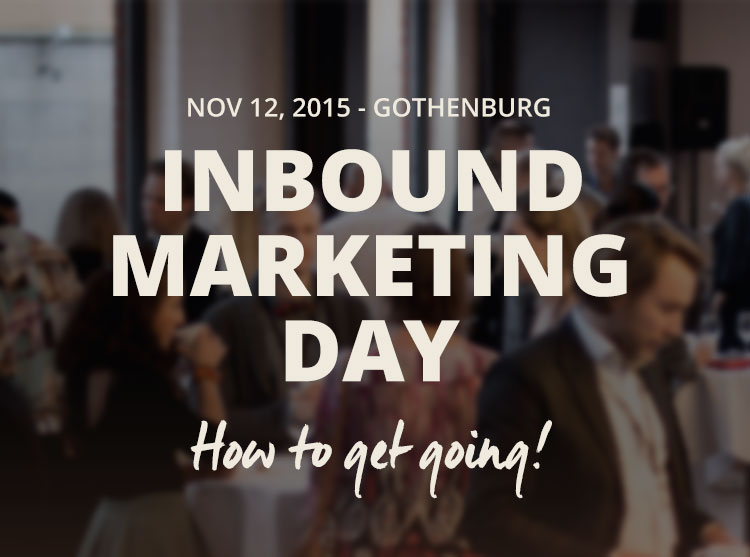 Inbound Marketing Day – How to get going!