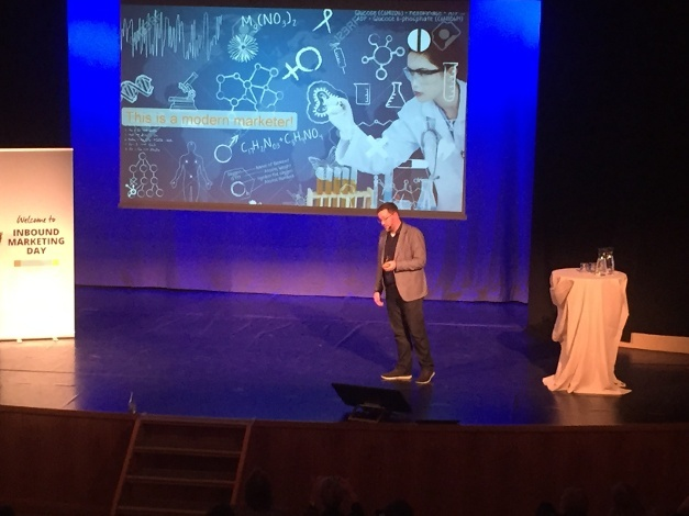 Kevin Dowling on stage at Inbound Day 2015