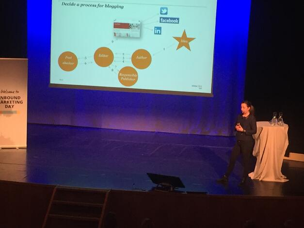 Fanny Ahlfors from PwC on How to create blog content at Inbound Day 2015